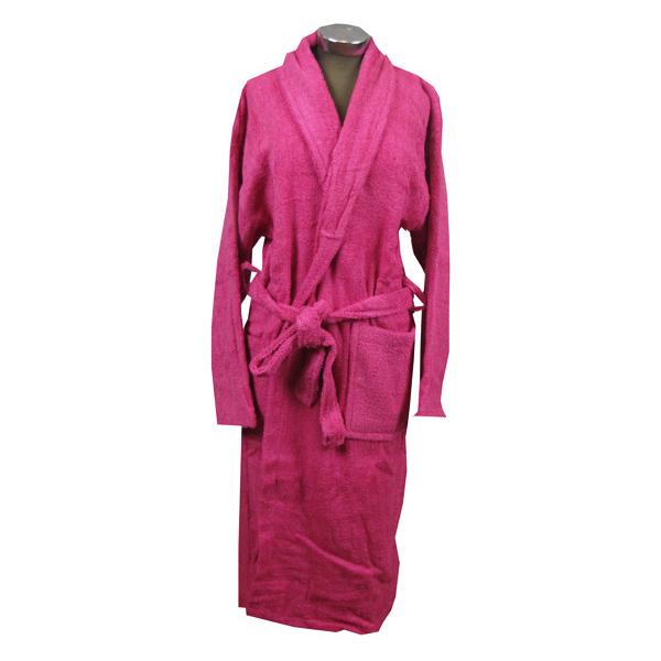 Φούξια μπουρνούζι ενηλίκων βαμβακερό - 1133