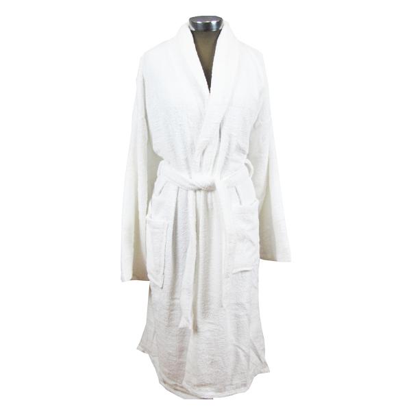 Λευκό μπουρνούζι ενηλίκων βαμβακερό - 1125