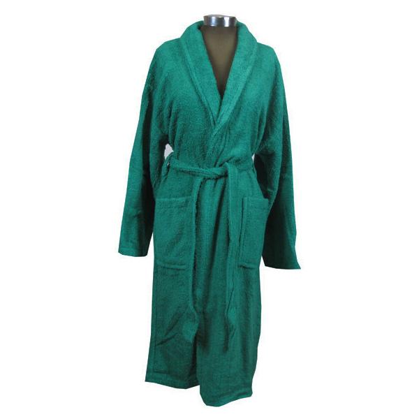 Πράσινο μπουρνούζι ενηλίκων βαμβακερό - 1127