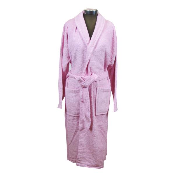 Ροζ μπουρνούζι ενηλίκων βαμβακερό - 1131