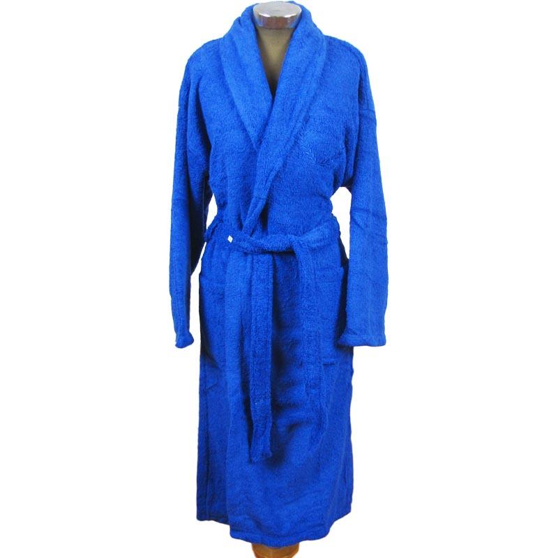Mπουρνούζι ενηλίκων 100% βαμβακερό με κουκούλα - 1237-1