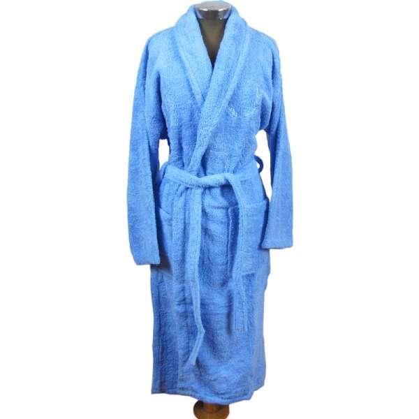 Mπουρνούζι ενηλίκων 100% βαμβακερό με κουκούλα - 1238-1