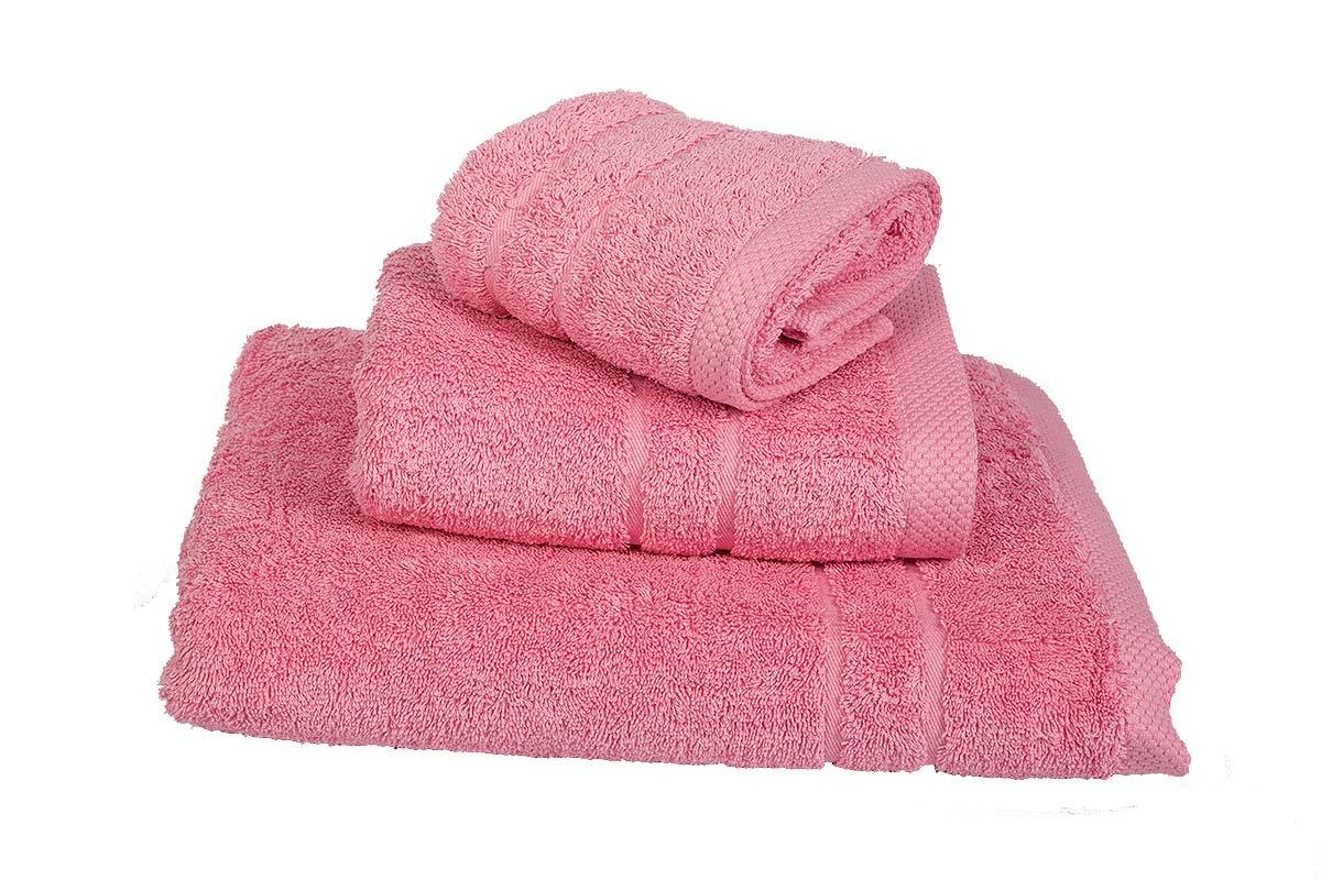 Σετ Πετσέτες 3 τμχ Le Blanc Πεννιέ 600γρ/μ² Pink (40X60, 50X95, 80X145) - 1037-4