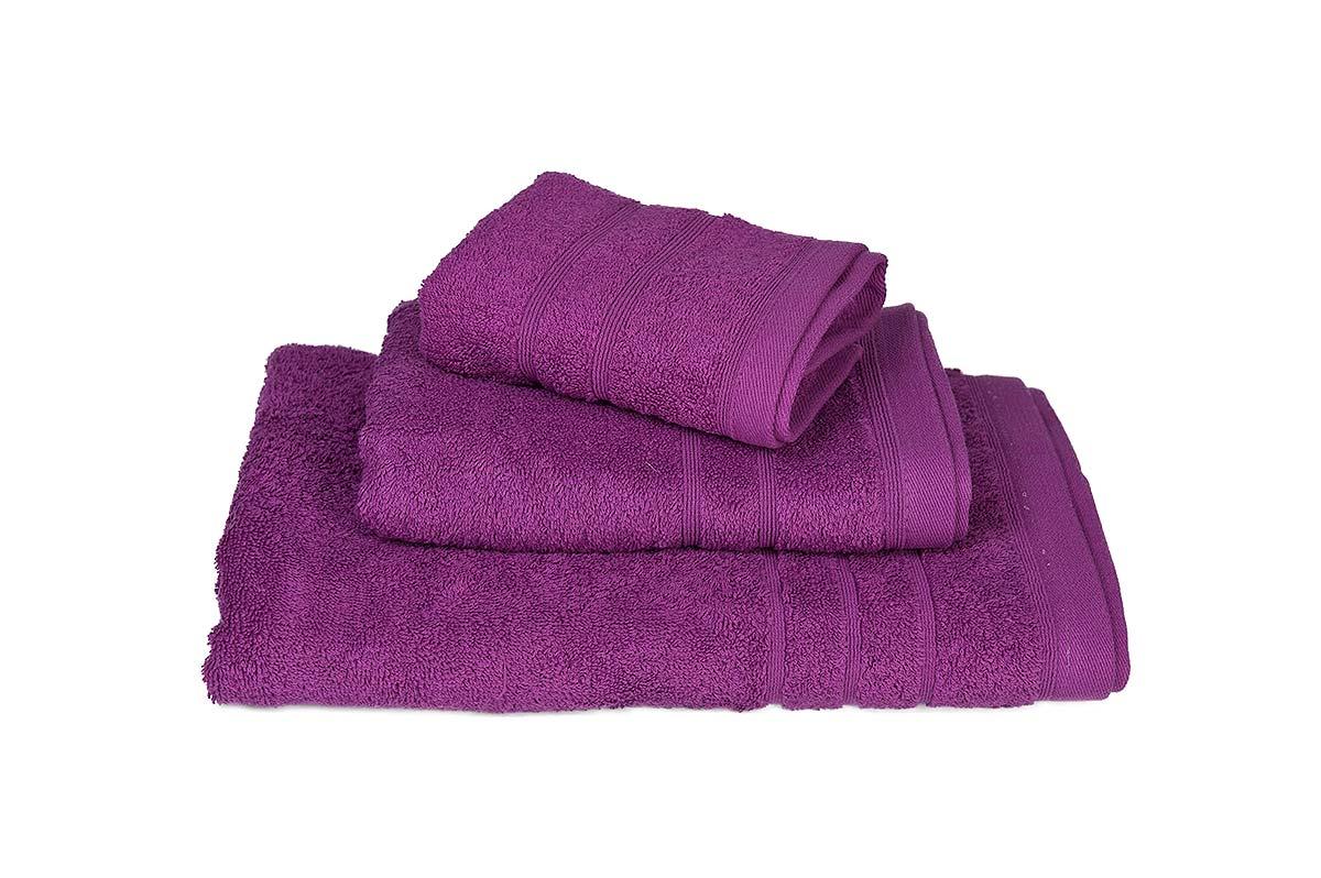 Πετσέτα ΚΟΜΒΟΣ Πεννιέ 500γρ/μ² Μωβ Σώματος 75x145 - 371-3