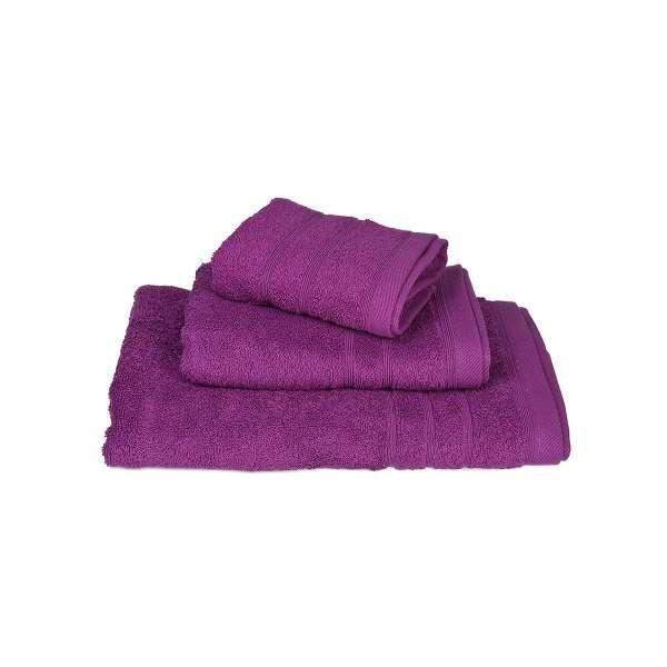 Πετσέτα ΚΟΜΒΟΣ Πεννιέ 500γρ/μ² Μωβ Χειρός 40x60 - 371-1