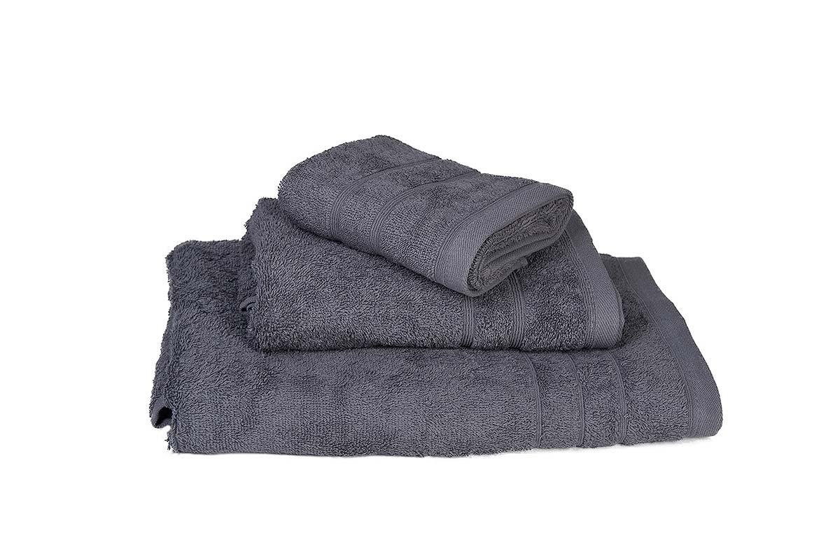 Πετσέτα ΚΟΜΒΟΣ Πεννιέ 500γρ/μ² Γκρι Σώματος 75x145 - 375-3