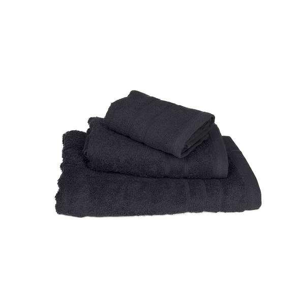 Μαύρη πετσέτα λουτρού πενιέ 75Χ145 500γρ/τ.μ - 378-3