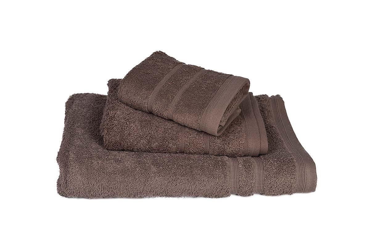 Πετσέτα ΚΟΜΒΟΣ Πεννιέ 500γρ/μ² Καφέ Σώματος 75x145 - 379-3