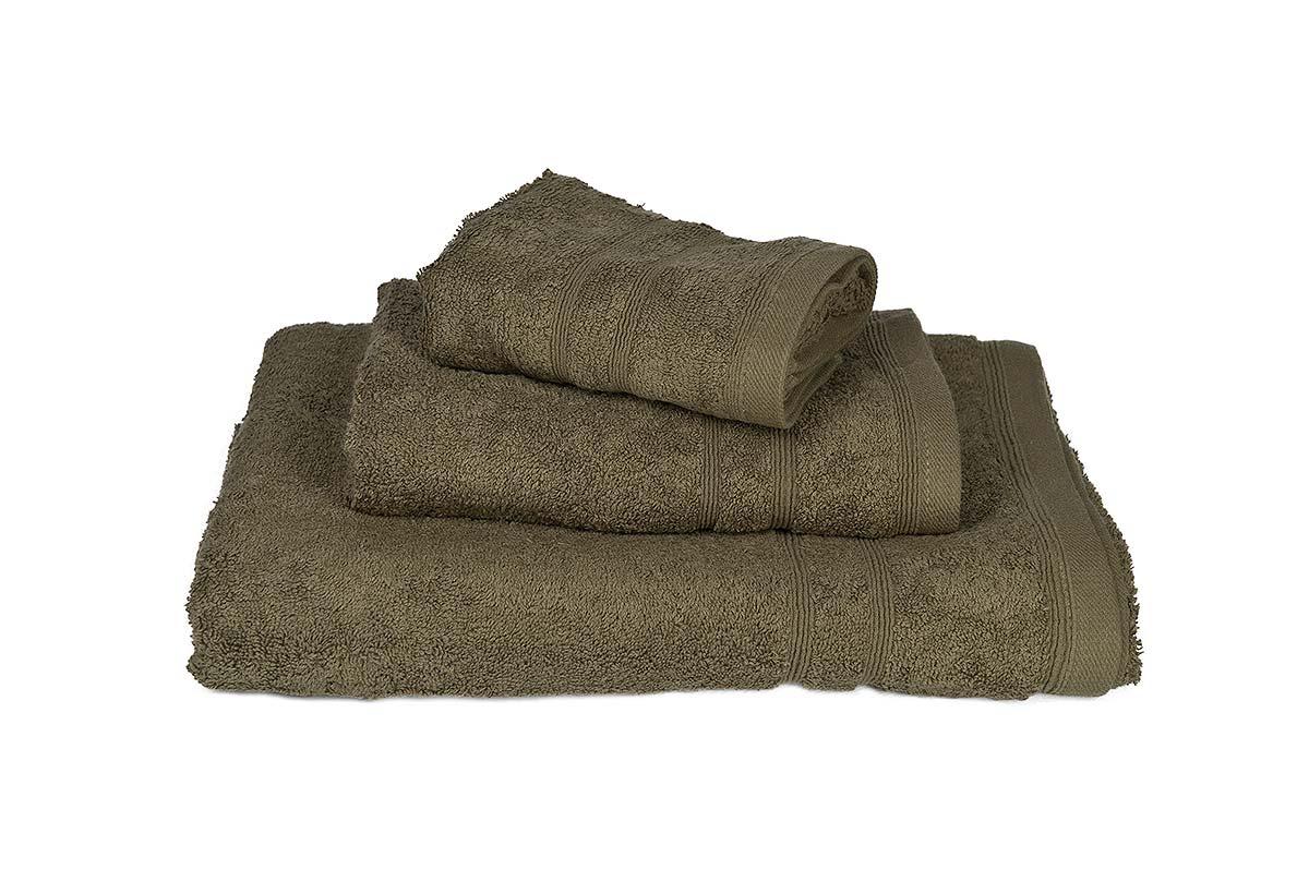 Πετσέτα ΚΟΜΒΟΣ Πεννιέ 500γρ/μ² Χακί Σώματος 75x145 - 380-3
