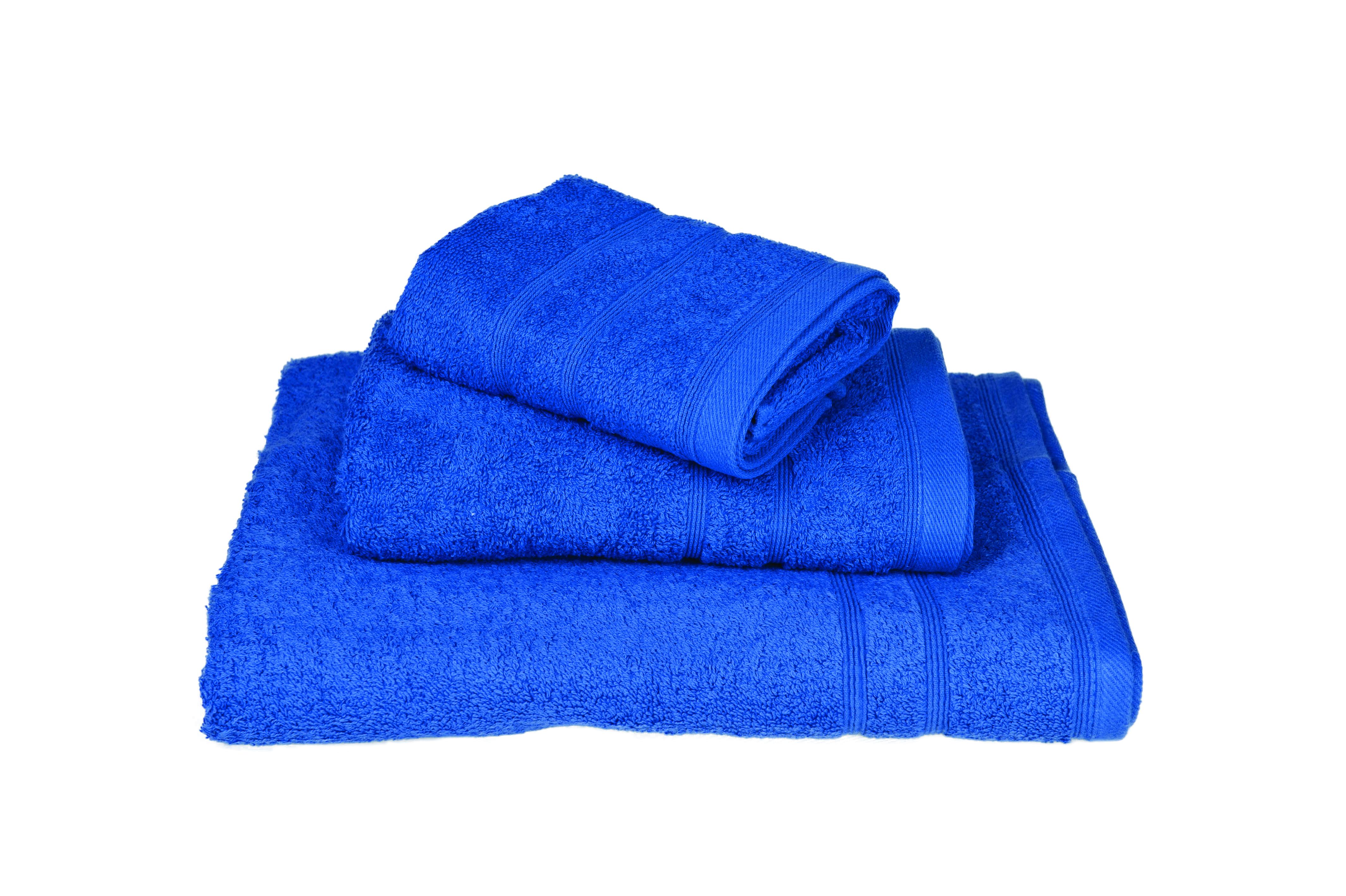 Πετσέτα ΚΟΜΒΟΣ Πεννιέ 500γρ/μ² Μπλέ Προσώπου 50x90 - 399-2