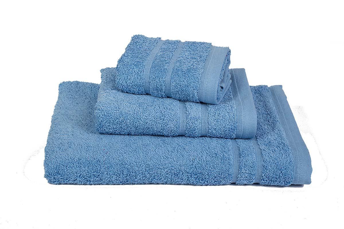 Πετσέτα ΚΟΜΒΟΣ Πεννιέ 500γρ/μ² Σιέλ Σώματος 75x145 - 400-3