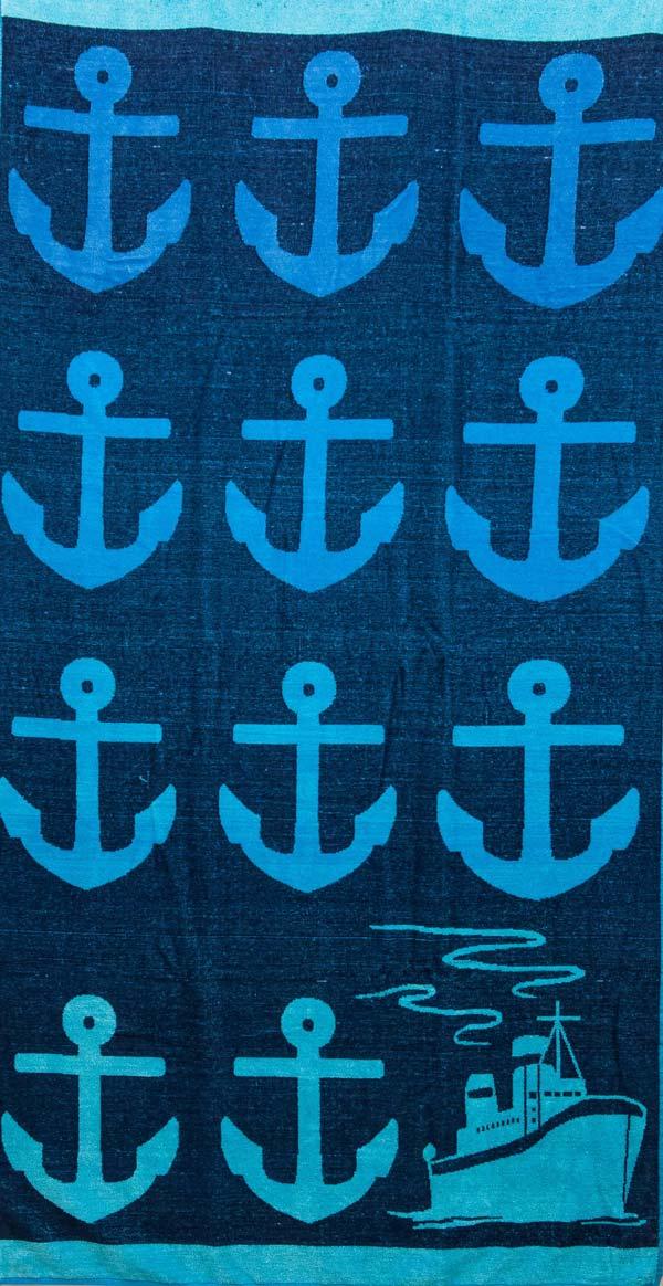 Πετσέτα θαλάσσης 100% βαμβακερή 90Χ170  Anchors - 1305