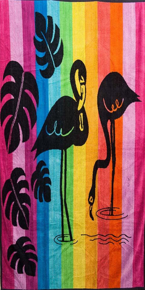 Πετσέτα θαλάσσης 100% βαμβακερή 90Χ170  Flamingo - 1315