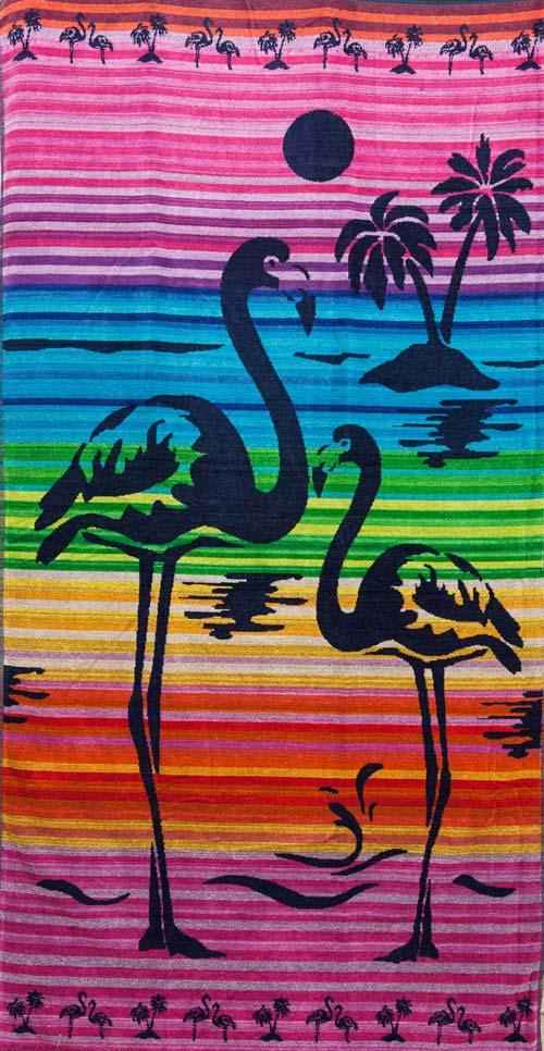 Πετσέτα θαλάσσης 100% βαμβακερή 90Χ170  Flamingo 2 - 1316