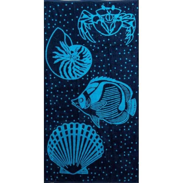 Πετσέτα θαλάσσης 100% βαμβακερή 90Χ170  Ocean - 1318