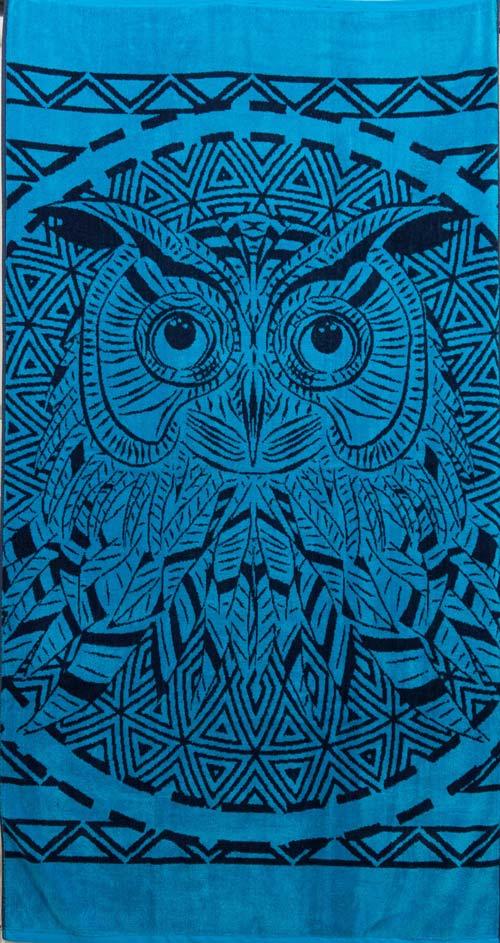 Πετσέτα θαλάσσης 100% βαμβακερή 90Χ170  Owl - 1319
