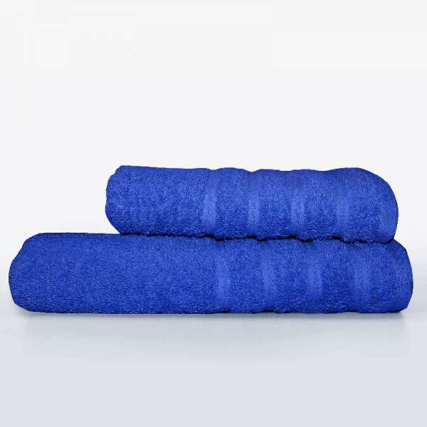 Μπλε Πετσέτα Προσώπου 50Χ100 500γρ/μ² Ideato - 1677-2