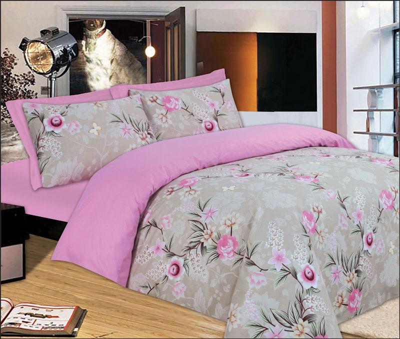 Σετ σεντόνια 245Χ280 υπέρδιπλα Pink Rose - 897-6