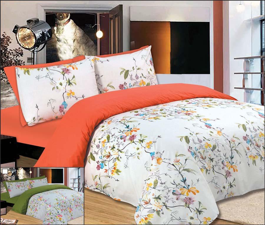 Σετ σεντόνια 245Χ280 υπέρδιπλα Flowers Peach - 900-6