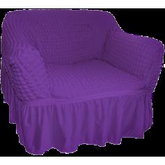 Σετ Ελαστικών Καλυμμάτων Σαλονιού Γκοφρέ Purple - 1686