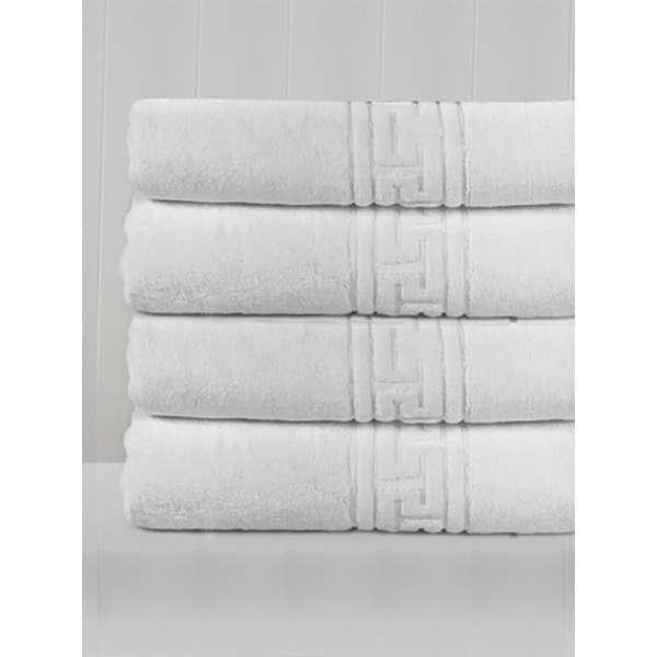 Πετσέτα προσώπου 50Χ100 ξενοδοχειακή με μαίανδρο 500gsm - 641-1