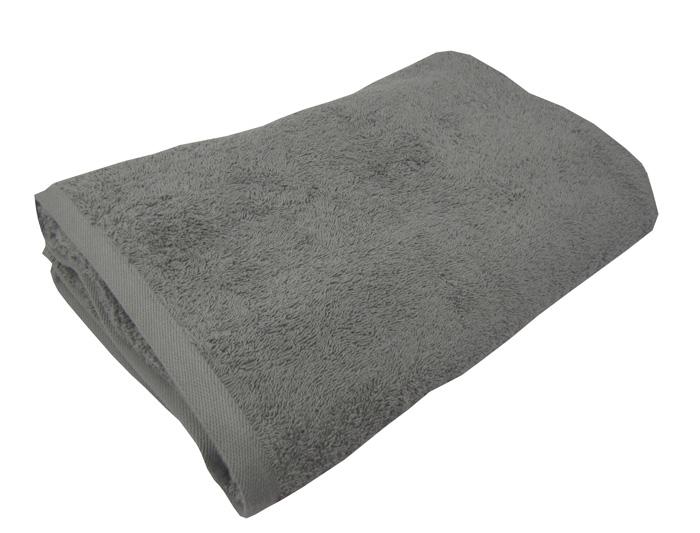 Γκρί πετσέτα πισίνας-σπα 80Χ160 ξενοδοχειακή 100% βαμβακερή 450 γραμμαρίων/τ.μ - 1329