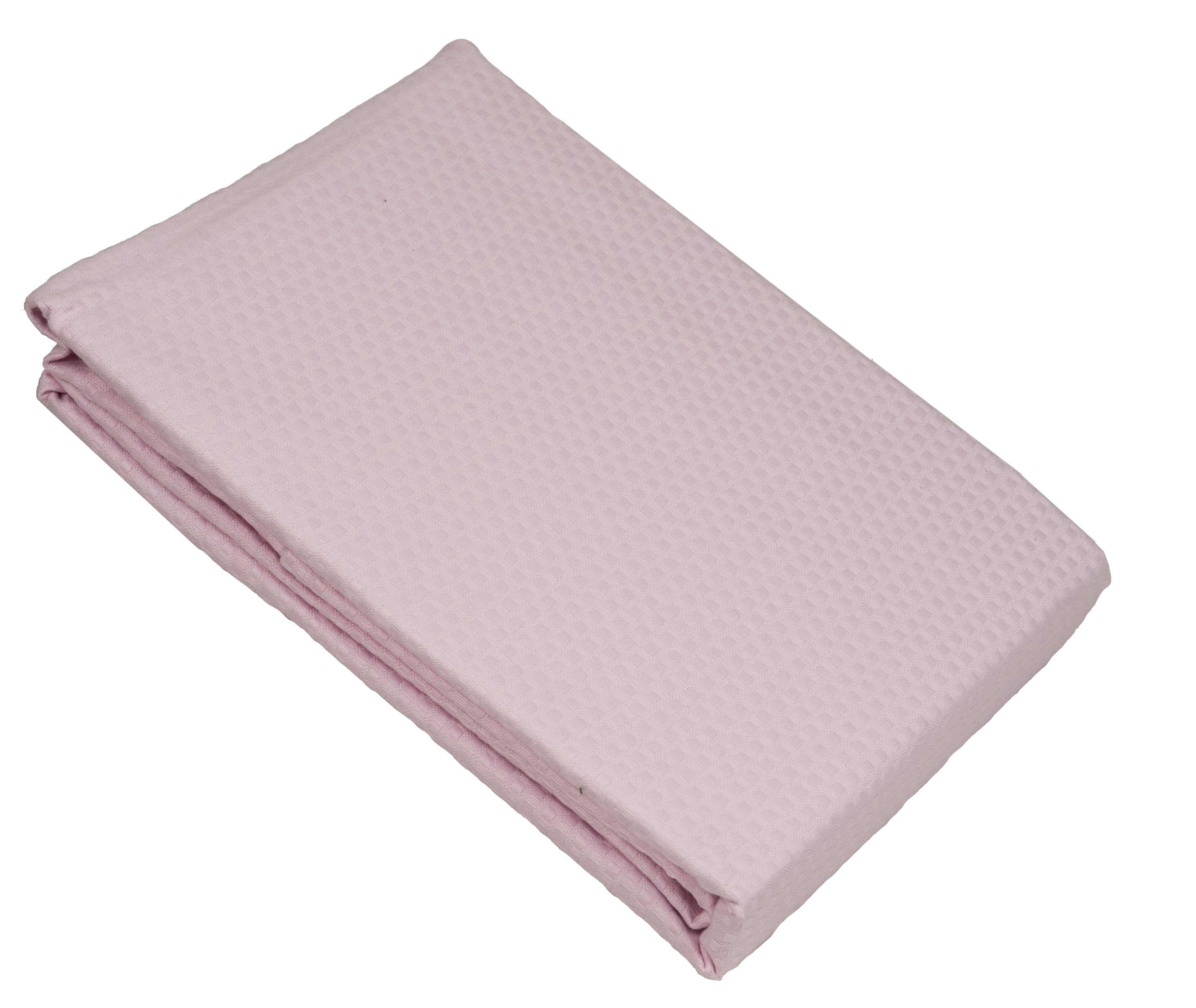 Ροζ κουβέρτα πικέ υπέρδιπλη sanforized 220Χ245 - 3256-2