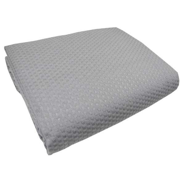 Γκρί κουβέρτα πικέ υπέρδιπλη sanforized 220Χ245 - 3258-2