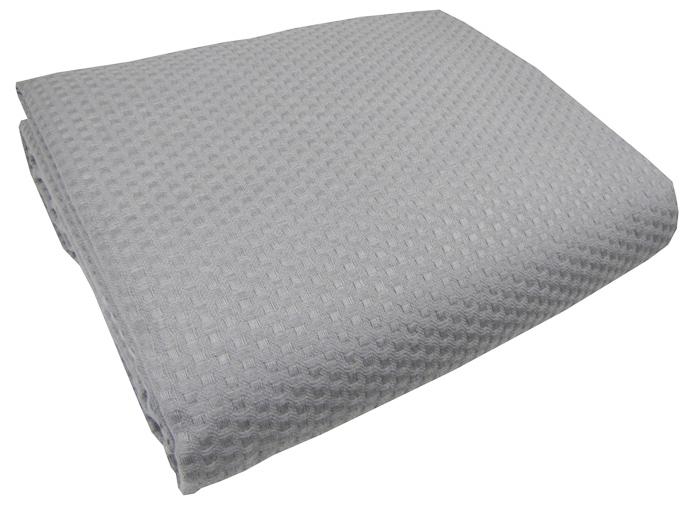 Γκρί κουβέρτα πικέ ημίδιπλη sanforized 170Χ230 - 3258-1