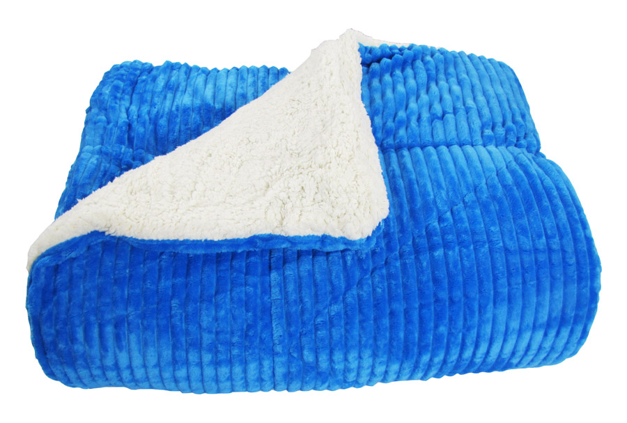 Κουβερτοπάπλωμα Ideato Yπέρδιπλο Flannel - Sherpa 220X240 σε Mπλέ - 1469