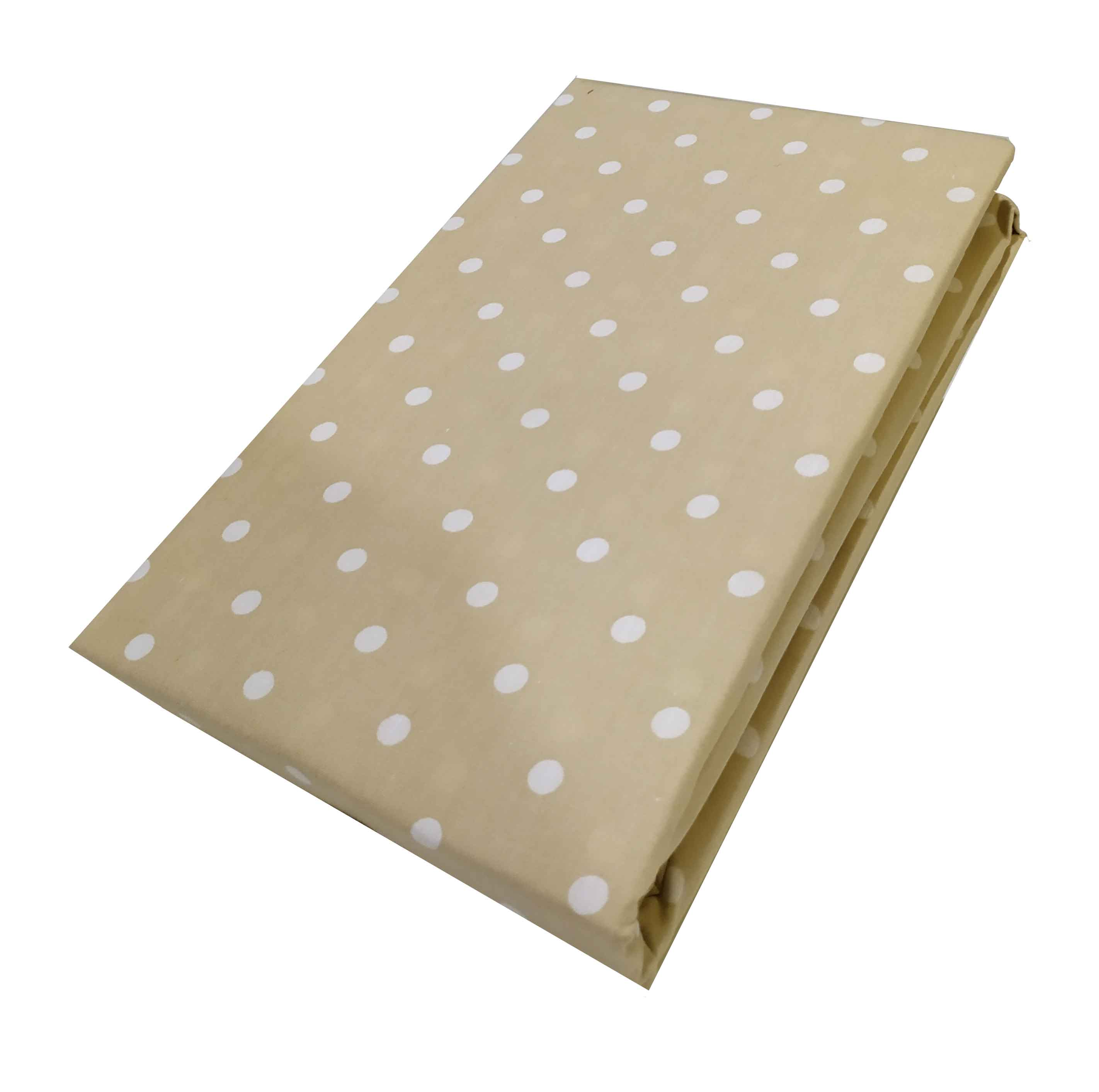 Ζεύγος Mαξιλαροθήκες ΚΟΜΒΟΣ Cotton Line Printed Dots Beige  50x70 - 7000139-15