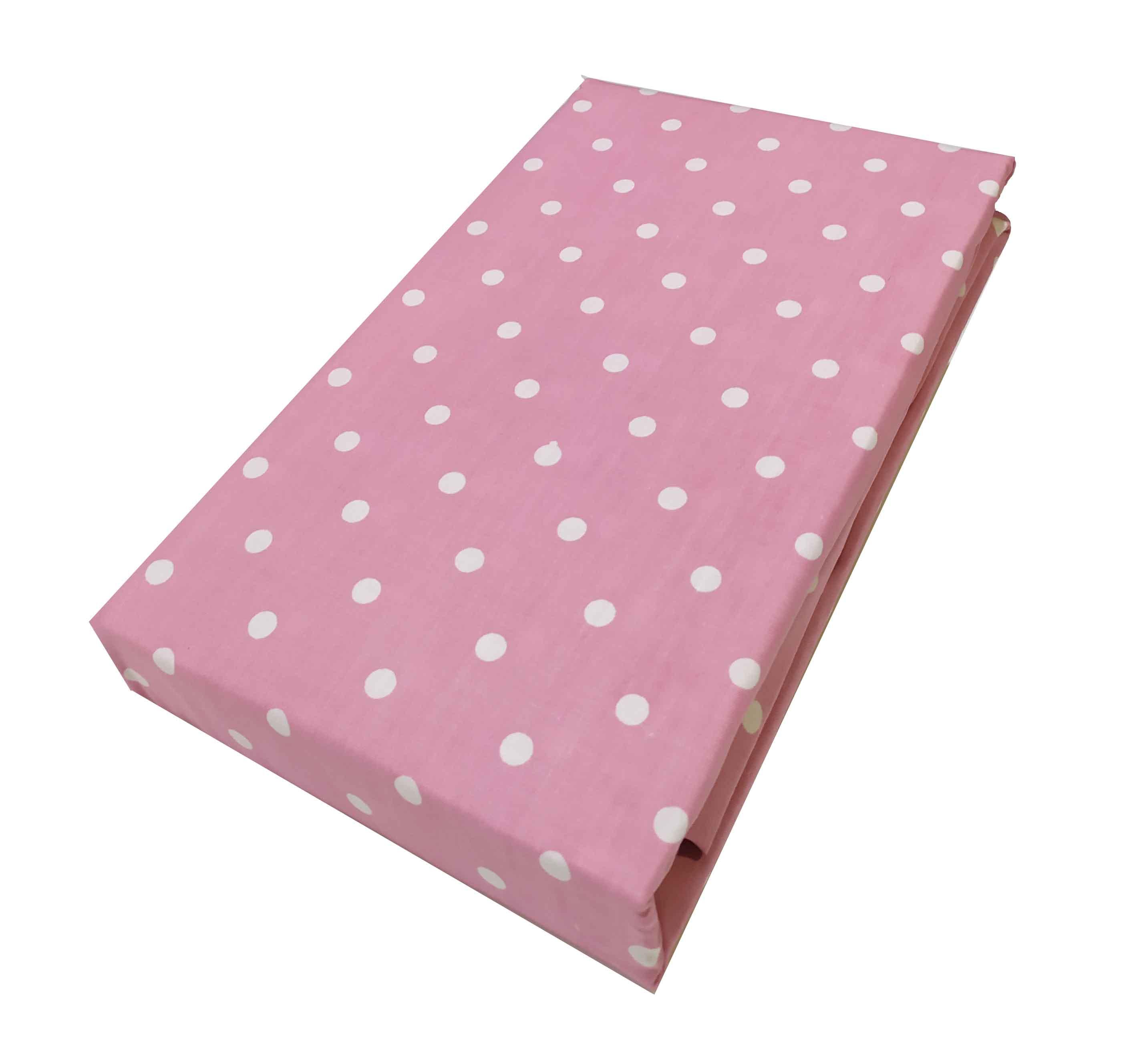 Ζεύγος Mαξιλαροθήκες ΚΟΜΒΟΣ Cotton Line Printed Dots Light Pink  50x70 - 7000139-34
