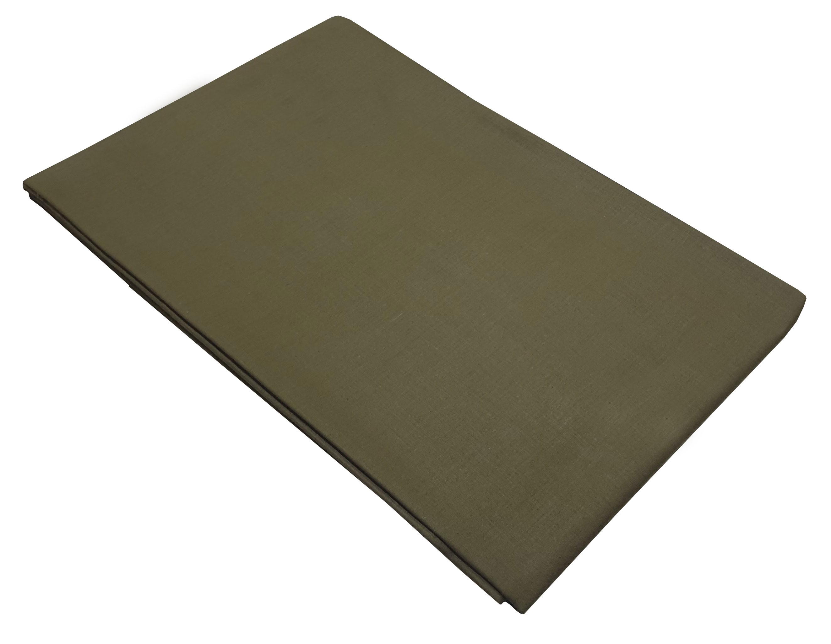 Σεντόνι ΚΟΜΒΟΣ Χακί μονόχρωμο Υπέρδιπλο με λάστιχο 170x200+20 - 7002201-10F