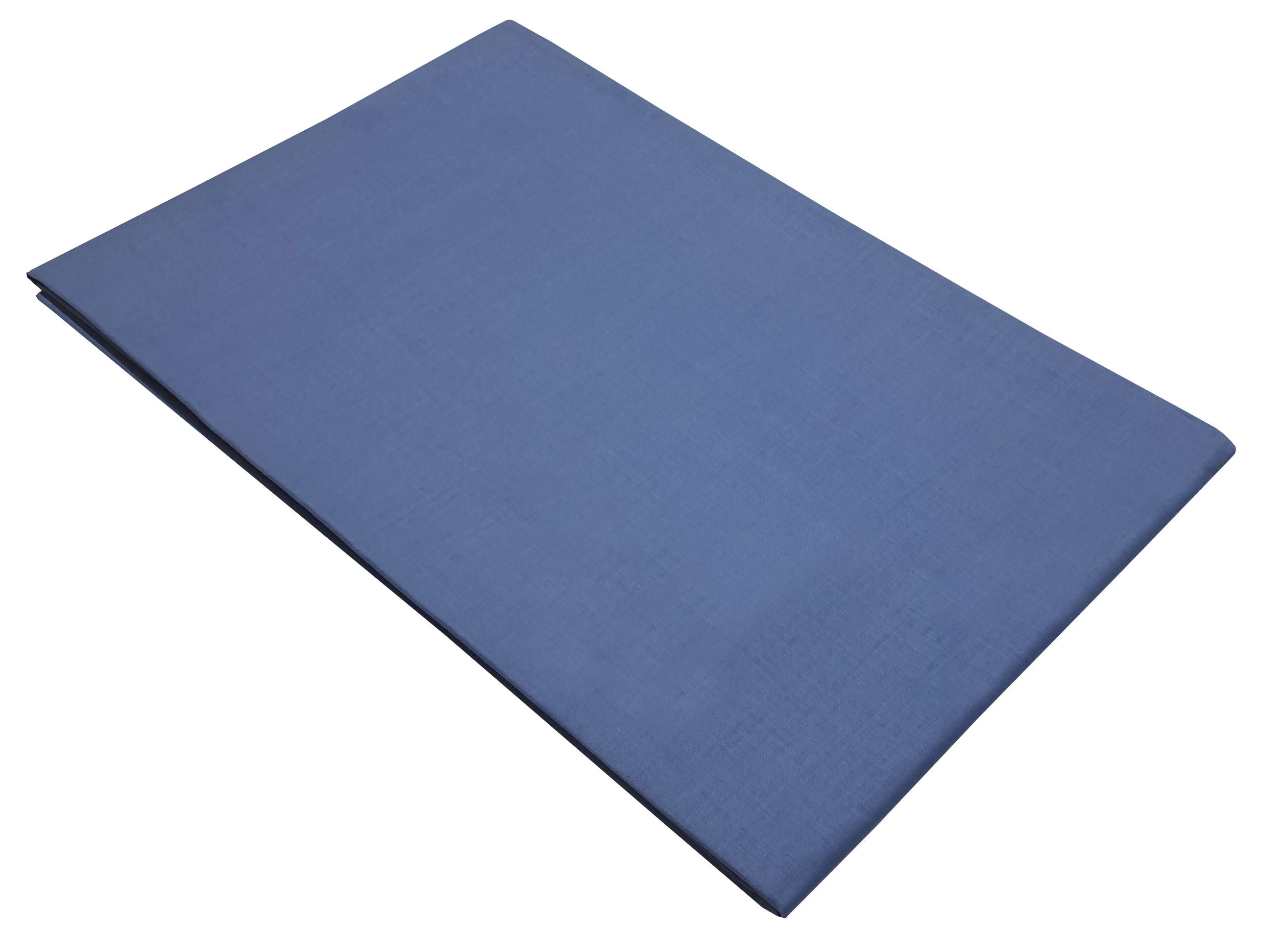 Σεντόνι ΚΟΜΒΟΣ Μπλε μονόχρωμο Υπέρδιπλο με λάστιχο 170x200+20 - 7002201-3F