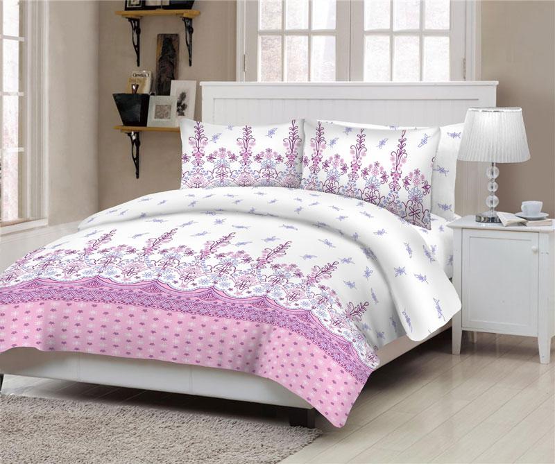 Σετ Σεντόνια ΚΟΜΒΟΣ Cotton Line Island Lilac Διπλά 200x240 - 7004540-35